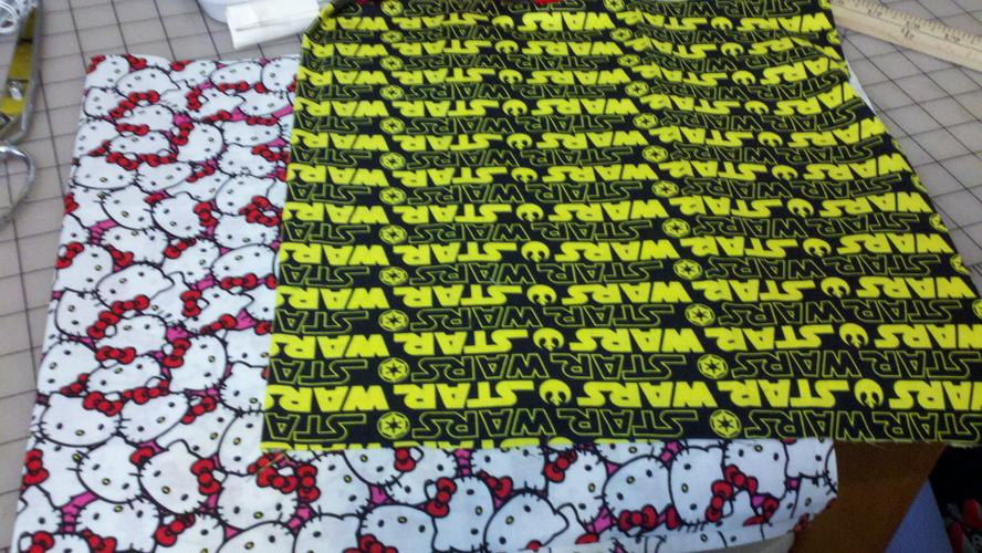 Hello Kitty and Star Wars fabric