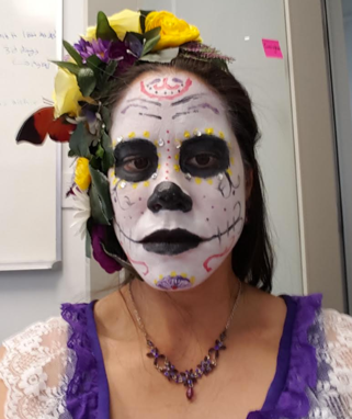 Catrina makeup a couple weeks later at work.